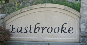Eastbrooke neighborhood Olathe Kansas entry monument