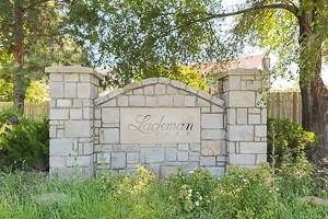 Lackman Park Place Olathe KS entry monument