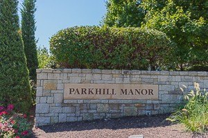 entry monument for Parkhill Manor Olathe KS