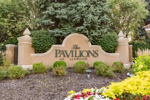 Entry Monument at Pavilions Leawood KS. The Mission Road Entrance