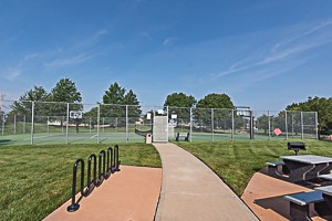 Tennis Courts, Basket Ball, and Picnic area at Walnute Creek Olathe KS