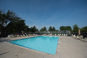 The neighborhood pool at the Walnut Creek subdivision in Olathe KS 66062