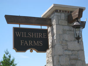 Entry Monument at Wilshire Farms Overland Park Kansas