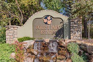 Forest Park Estates entry monument