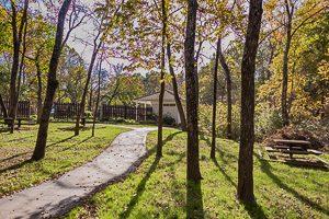Biking and Hiking trail in Forest Park Estates Shawnee KS