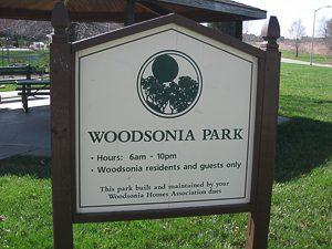 Woodsonia Park in the Woodsonia neighborhood Shawnee KS