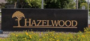 Entry Monument at Hazelwood Leawood KS neighborhood