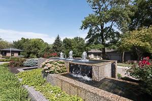 Hazelwood neighborhood entry fountain Leawood KS