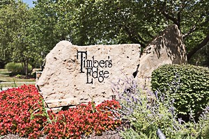 Entry Monument for Timbers Edge neighborhood in Overland Park KS