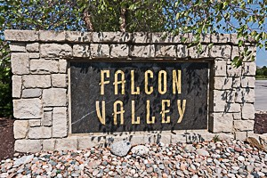 Falcon Valley Lenexs KS entry monument