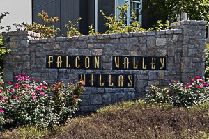 Falcon Valley Villas Lenexa KS neighborhood entry monument