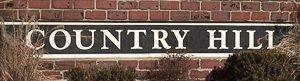 Neighborhood monument for Country Hill Lenexa KS